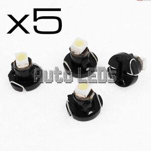 5 White SMD LED T3 Neo Wedge 12v Interior LED Bulb