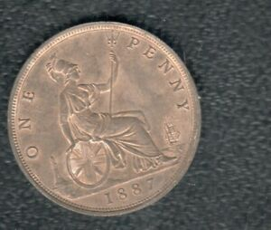 GREAT BRITAIN 1 PENNY 1887