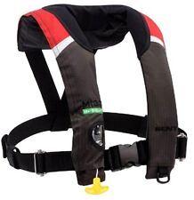 Kent M-33 In-Sight Manual Inflatable Red/Black Life Jacket PFD