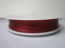 Red Wire Jewelery Making Beading Findings Supplies 0.45 MM