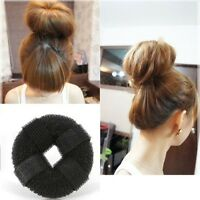 HOT SPONGE VELCRO BALL HEAD HAIR STYLING BUN MAKER RING DONUT SHAPER HAIR STYLER