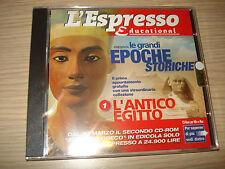 CD-ROM THE GREAT ERAS STORICHE N° 1 L´ANTICO EGYPT WINDOWS MAC L'ESPRESSO