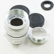25mm f/1.4 CCTV C 1/2 Lens for Nikon 1 mount N1 camera J1 J2 J3 V1 V2 S1 + Macro