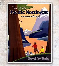 "Vintage Travel Poster Northwest Home Decor 8x10"" A134"