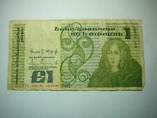 Ireland 1 Pound Bank Note-Circulated World Money Foreign Currency Irish