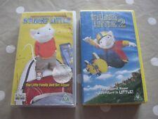 Stuart Little and Stuart Little 2 VHS Videos in Good Condition