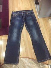 True Religion Mens Jeans W36 L34 Vgc Exlusive White Stiching