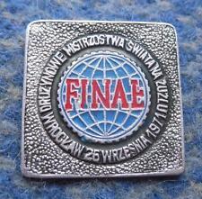 FINAL TEAM WORLD CHAMPIONSHIPS SPEEDWAY POLAND WROCLAW 1971 PIN