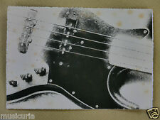 Lm. greetings / birthday card with 1970s FENDER JAZZ BASS detail