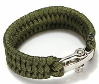 Camping Bracelet Paracord Buckle Rope Wristband Wear Resistant Wrist Strap 1PC