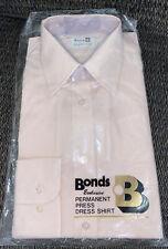 Bonds Exclusive Permanent Press Single Needle Dress Shirt Pink 15 32/33 Mens New