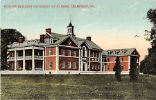 Illinois postcard Champaign University of Illinois Womans Building