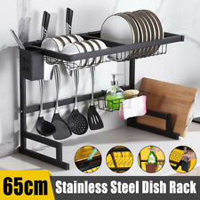 25'' Stainless Steel Over The Sink Dish Drying Rack Drainer Holder Shelf Kitchen