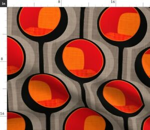 Pod Retro Modern Table Mid Century Spoonflower Fabric by the Yard