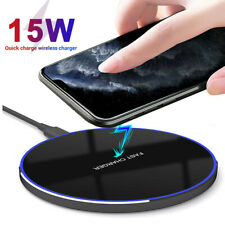 15W Qi Wireless Charger Fast Charging Pad For iPhone 11 Pro Xs Max Galaxy S10+