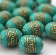 20 x Gold Metal Enlaced Jewellery Making Beads 9 x 13mm
