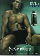 Publicité Advertising 1983  Parfum BODY KOUROS de YVES SAINT LAURENT