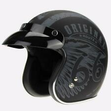 Viper RS-05 Slim Route 66 Motorcycle Scooter Open Face Crash Helmet Retro Mod