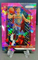 2018-19 Panini Prizm Trae Young Pink Cracked Ice Prizm Rookie Rc  SSP