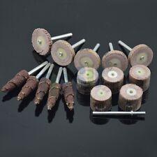 15PCS FLAP WHEELS Flap Sanding/Polishing Grit Flap Wheels Set 1/8Inch Shank