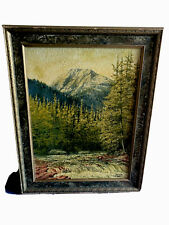 "Antique California Paintig, Oil On Board, Yosemite ,Circa 1900,signed ""Dewey"""