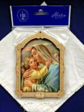 MADONNA/CHILD  MULTI-LAYERED WOODEN GOLD FOIL WALL PLAQUE Italy NEW Stunning.