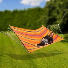 """Hamac en lin """"COLOUR"""" 200 kg surface de couche 2100 x 1450 mm jardin D94001"""