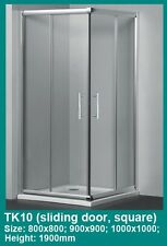 SQUARE CORNER SLIDING DOORS FRAMED SHOWER SCREEN CUBICAL 900x900