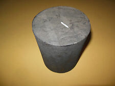 "Solid Graphite Block  5 7/8"" High X 4 5/8"" Diameter   (147 x 117 mm)"