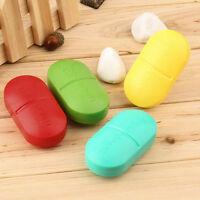 Portable Travel 6-Slot Medical Pill Box Holder Medicine Case Drug Storage New ZH