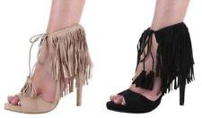 Fransen Damen-Sandalen & -Badeschuhe mit sehr hohem Absatz (größer als 8 cm)
