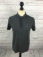 ALLSAINTS Polo Shirt - Medium - Grey - Great Condition - Men's