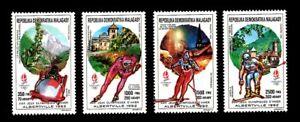 Olympic Madagascar 1990 set of stamps Mi#1257-60 A MNH CV=8€