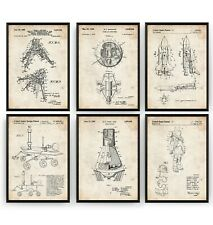 Outer Space Set Of 6 Prints - NASA Poster Art Aerospace Decor Gift - Unframed