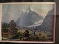 Aquatinte originale-David Aloïs Schmid, Suisse : Glacier de Grindelwald