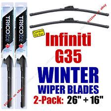 WINTER Wiper Blades 2-Pack Super-Premium fit 2008 Infiniti G35 - 35260/160