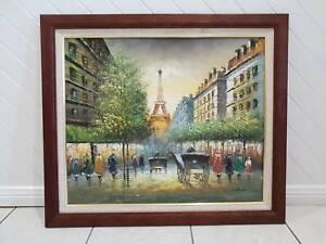 Oil Painting of PARIS Eiffel Tower (Framed)