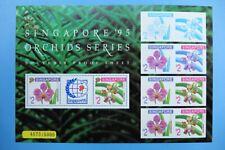 Singapore 1995 Souvenir Proof Sheet Orchids Limited Edition MNH 4573/5000