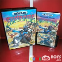 Sunset Riders Game Cartridge for SEGA Genesis Complete + Box Manual USA Version