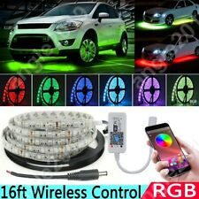 Rgb Multicolor Led Car Underbody Glow Neon Light Strip Kit App Wireless Control
