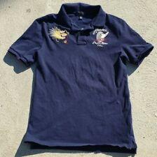 New listing Ralph Lauren Dragon Riders Hawaii Boys Size L/G 14 To 16 blue Polo Shirt