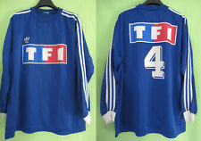 Maillot porté Adidas Coupe de France Bleu #4 TF1 Vintage match worn Jersey - XL
