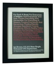 IAN BROWN+FEAR+POSTER+AD+RARE ORIGINAL 2001+TOP QUALITY FRAMED+FAST GLOBAL SHIP