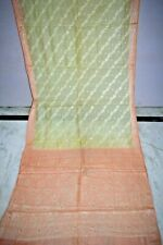 Indian Pure Tussar Silk Saree Recycle Embroidered Boder Ethnic Home decor
