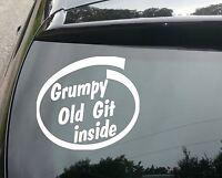 GRUMPY OLD GIT INSIDE Funny Novelty Joke Car/Van/Window/Bumper Sticker/Decal