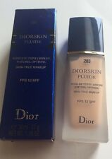 Dior Diorskin Fluide Skin-True Makeup Foundation #203~SPF 12~PEACH NUDE