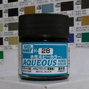 Gunze Aqueous Hobby Color H-28, Metal Black.