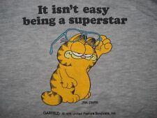 Vintage 1980s GARFIELD SLEEVELESS SWEATSHIRT T Shirt HEATHER GRAY Soft 80s M