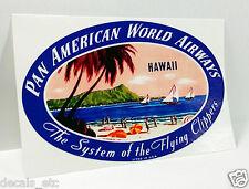 PAN AMERICAN Hawaii Vintage Style Decal / Vinyl Sticker, Luggage Label