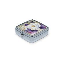 Punch Studio H8 Travel Health Medication Pill Box Case Organizer Purple Bouquet